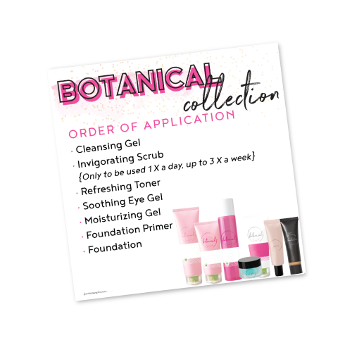 Botanical Collection Order of Application
