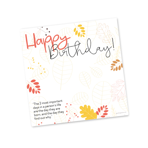 Happy Birthday Template – Fall