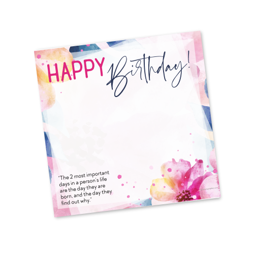 Happy Birthday Template – Spring