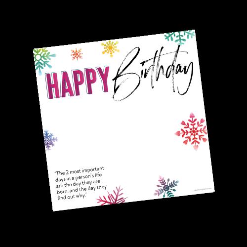 Happy Birthday Template – Winter