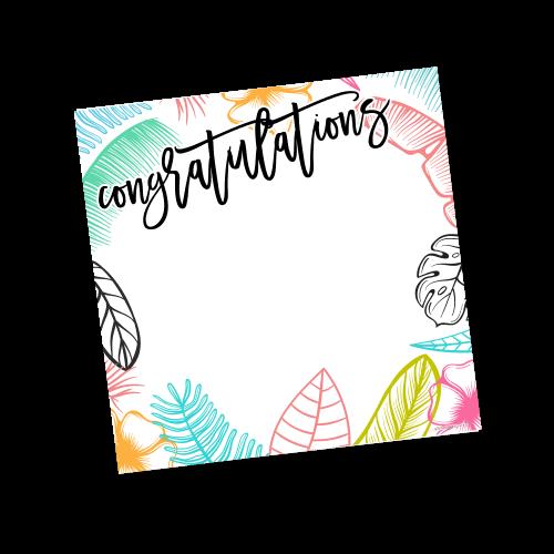 Congratulations Template – Summer