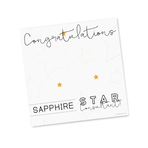 Sapphire Star Consultant Template