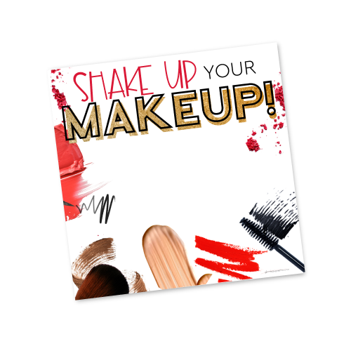 Shake up your Makeup Invite Template