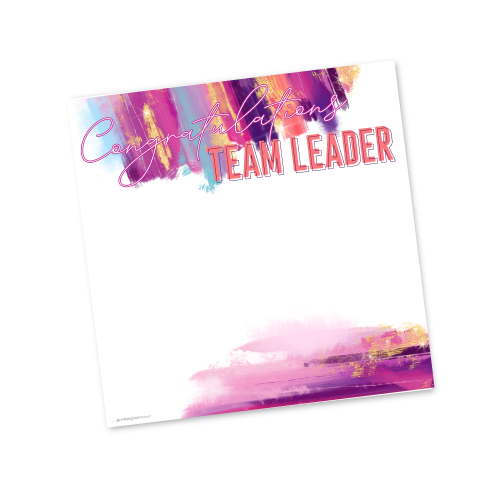 Congratulations Team Leader