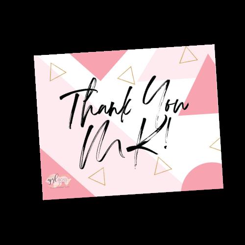 Thank you MK!