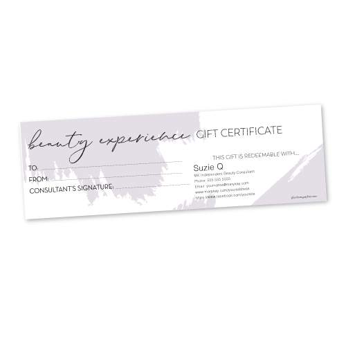Beauty Experience Gift Certificate