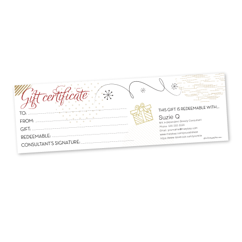 Christmas/Holiday Gift Certificate