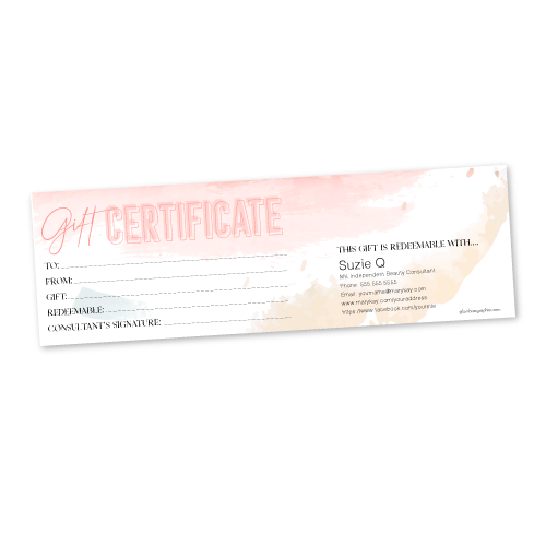Watercolor Gift Certificate