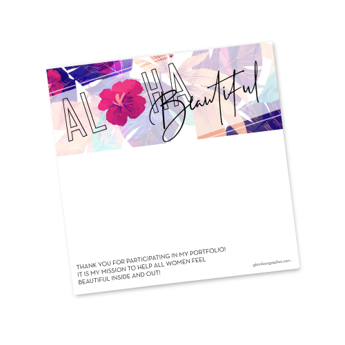 Aloha Beautiful Posting Template {After Image}