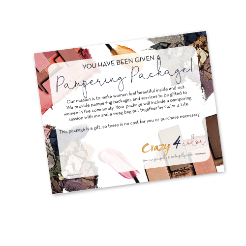 Crazy 4 Color Pampering Package Texting Image