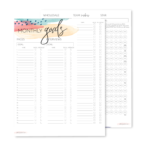 Monthly Goals & Tracking Planner