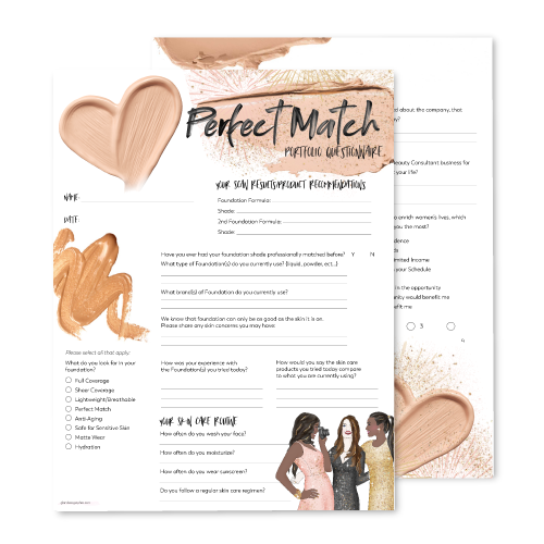 Perfect Match Questionnaire Portfolio