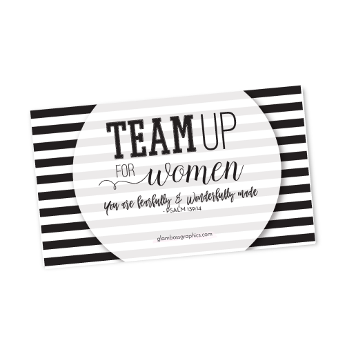 Team Up For Women Gift Tags