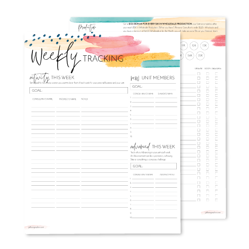 Weekly Goals & Tracking Planner – Director