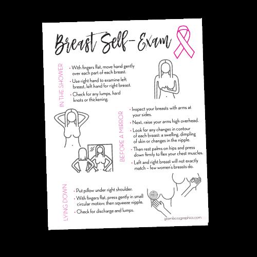 Breast Self-Exam Cards