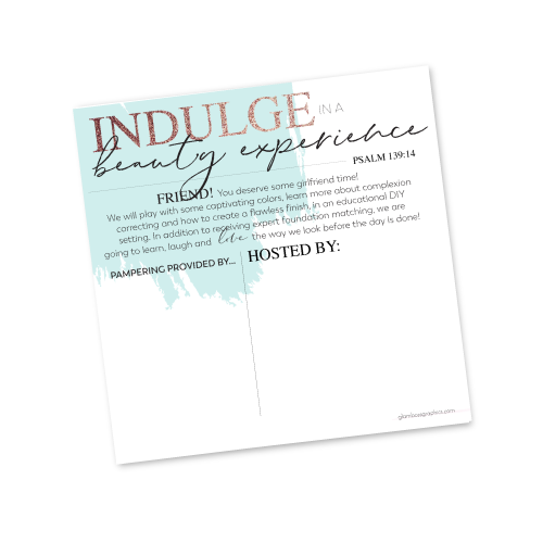 Beauty Experience Invite Template Host