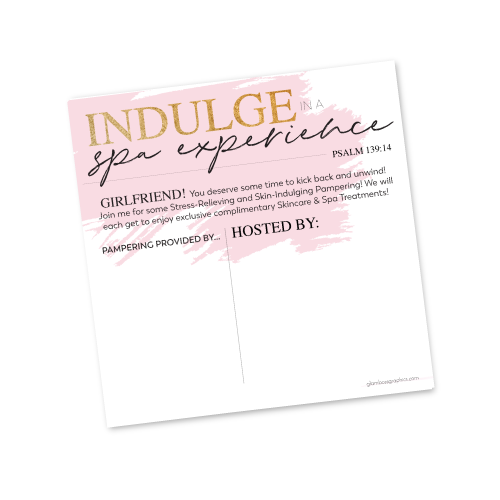 Spa Experience Invite Template Host