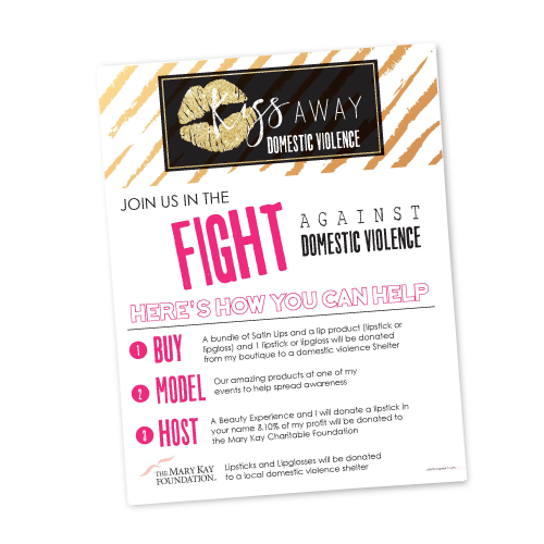 Join The Fight Against Domestic Violence Flyer