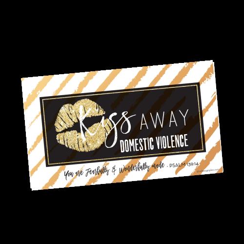 Kiss Away Domestic Violence Gift Tags