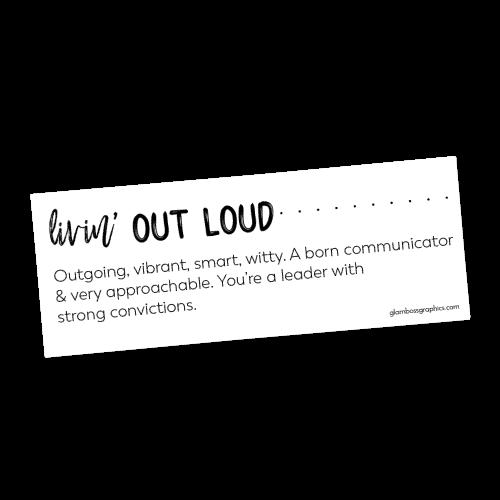 Livin' Out Loud Lip Print Labels