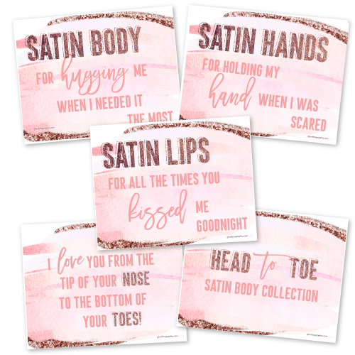 Head to Toe Satin Body Collection Cards {Mom}