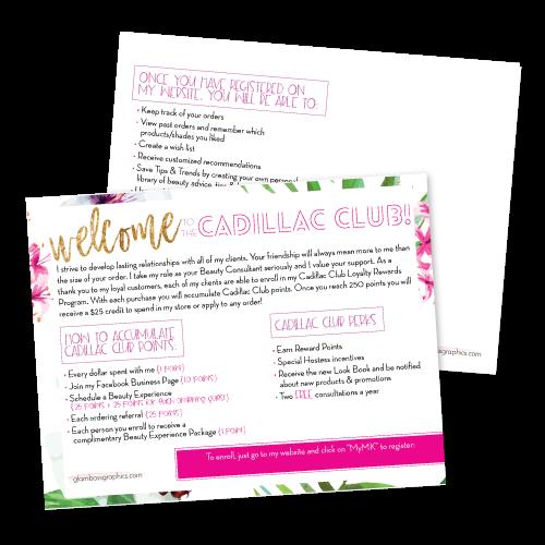 Cadillac Club Loyalty Reward Program Welcome Postcard