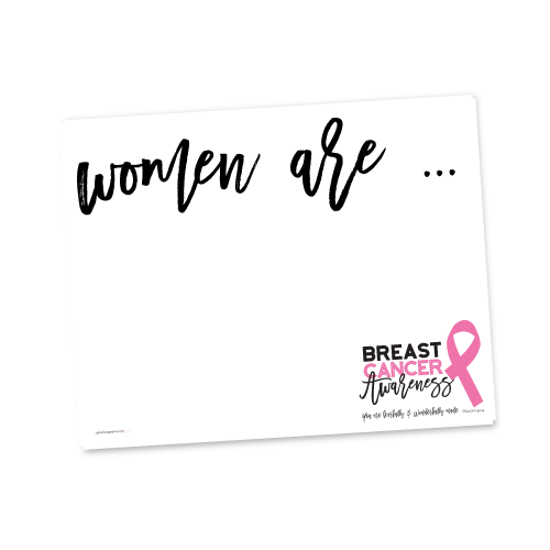 Breast Cancer Awareness Makeover Sign