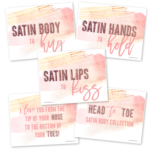 Head to Toe Satin Body Collection Cards {Significant Other}