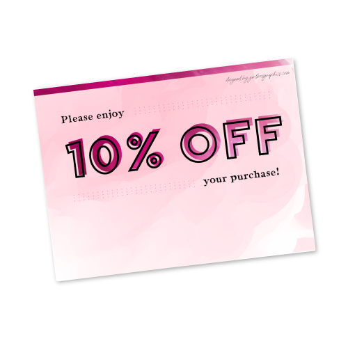 Digital 10% Off Gift Card