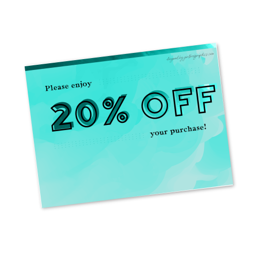 Digital 20% Off Gift Card
