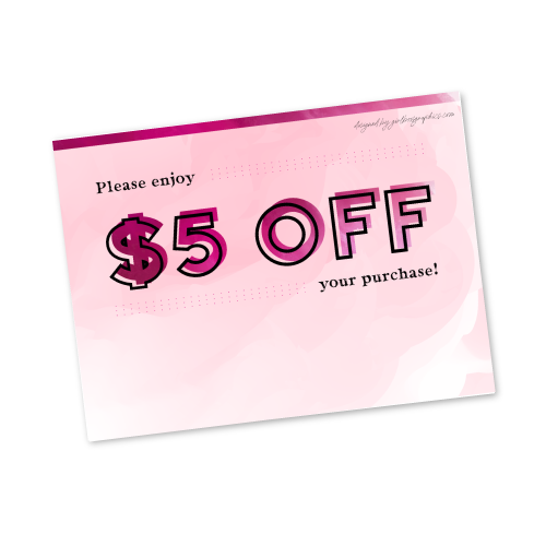 Digital $5 Off Gift Card