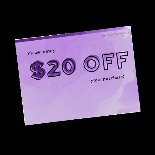Digital $20 Off Gift Card