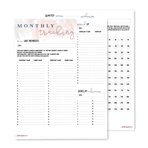 Monthly Goals & Tracking Planner – Director