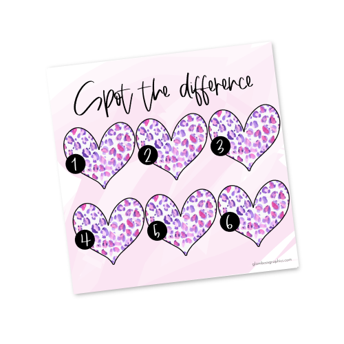 Spot the Difference Game – Hearts