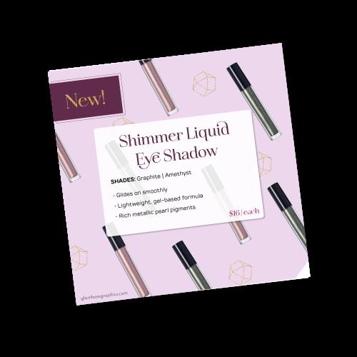 Shimmer Liquid Eye Shadow New Product Image – Fall 2021
