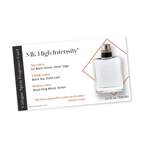 High Intensity Cologne Fragrance Card