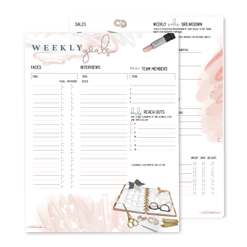 Weekly Goals & Tracking Planner