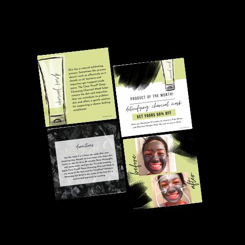 Charcoal Mask Posting Images Series III