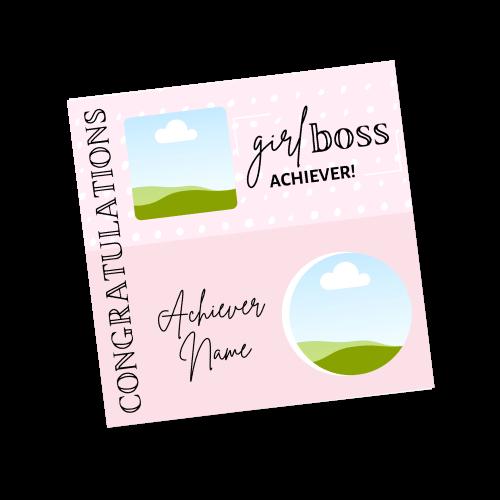 Girl Boss Achiever Template